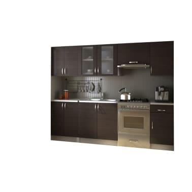 La boutique en ligne meubles de cuisine quip e neufs brun for Cuisine equipee en ligne