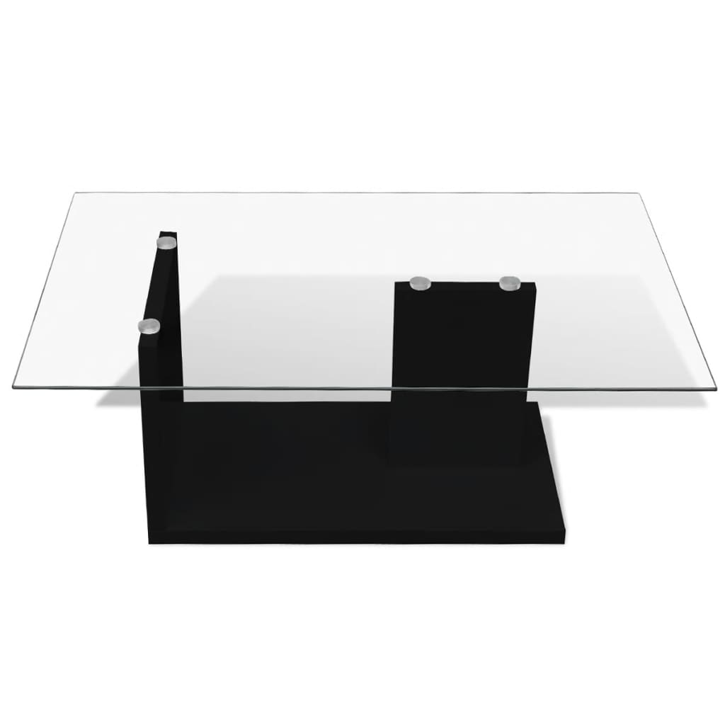 Tempered glass top coffee table simple for Table simple design