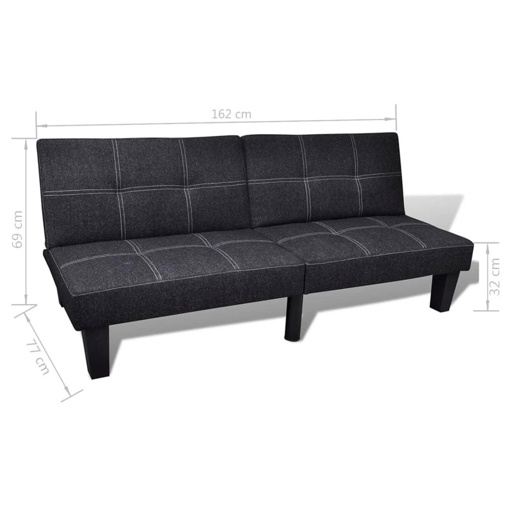 Canapea pat reglabil negru for Canapea pat