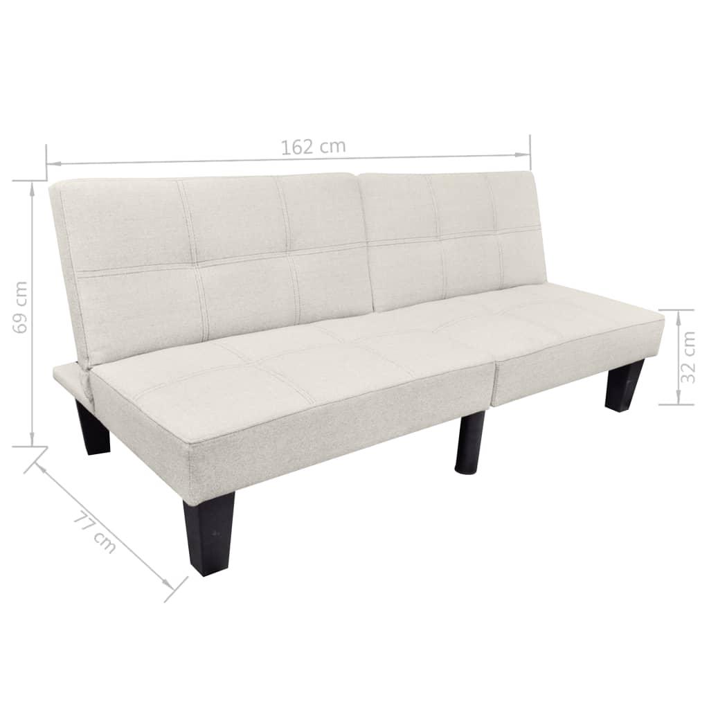 la boutique en ligne vidaxl canap lit convertible beige. Black Bedroom Furniture Sets. Home Design Ideas