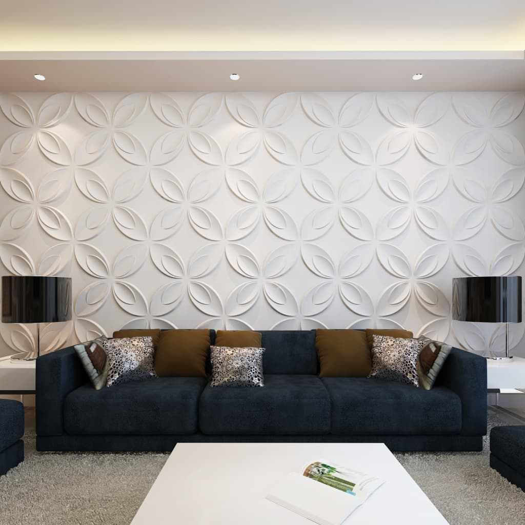 Flower 3d Wall Panels : New d wall panels m² wave square bow flower
