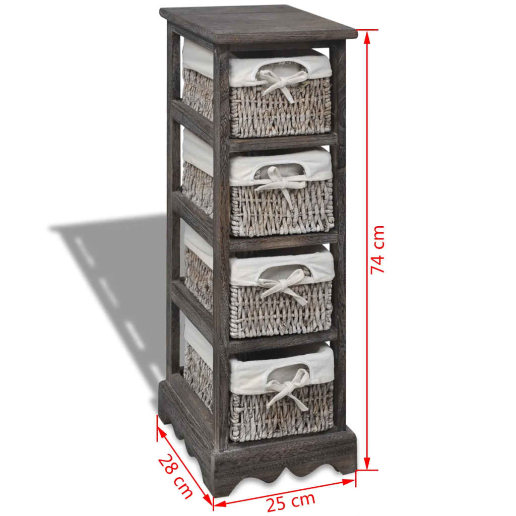 Basket Weaving Supplies Uk : Brown wooden storage rack weaving baskets vidaxl