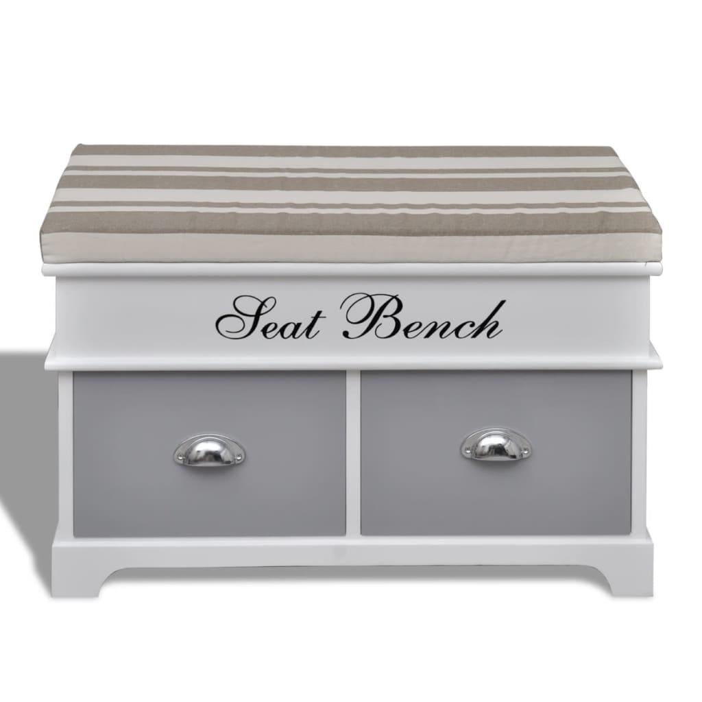 acheter banc de rangement avec 2 tiroirs coussin inclus pas cher. Black Bedroom Furniture Sets. Home Design Ideas