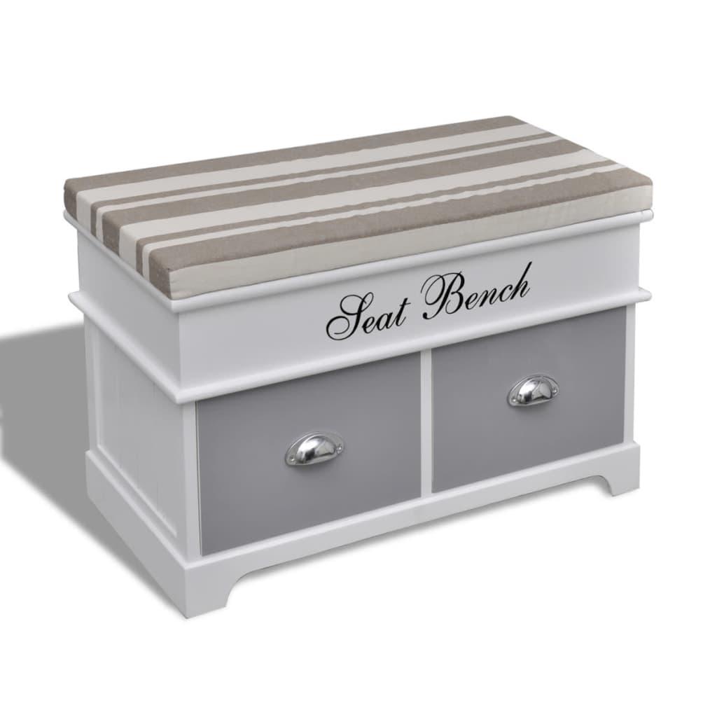 Acheter banc de rangement avec 2 tiroirs coussin inclus for Banc de rangement pas cher