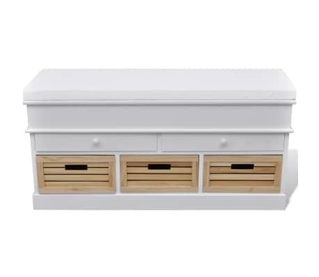 la boutique en ligne banc de rangement avec 3 cagettes et 2 tiroirs coussin inclus. Black Bedroom Furniture Sets. Home Design Ideas