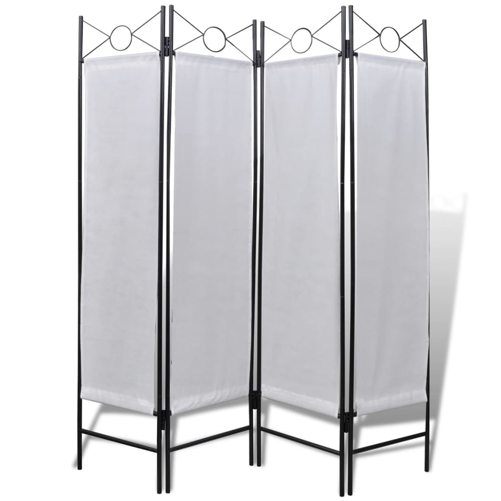 4 Panel Room Divider Privacy Folding Screen White 5 3 Quot X