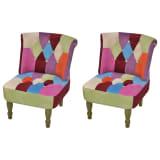 Fransk lænestol med patchwork mønstre, 2-pak