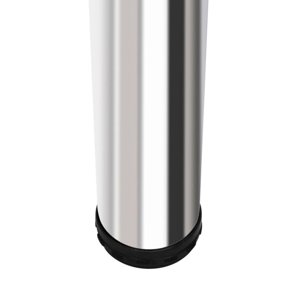 vidaXL.nl  Hoogglans bar tafel met 2 poten (wit)