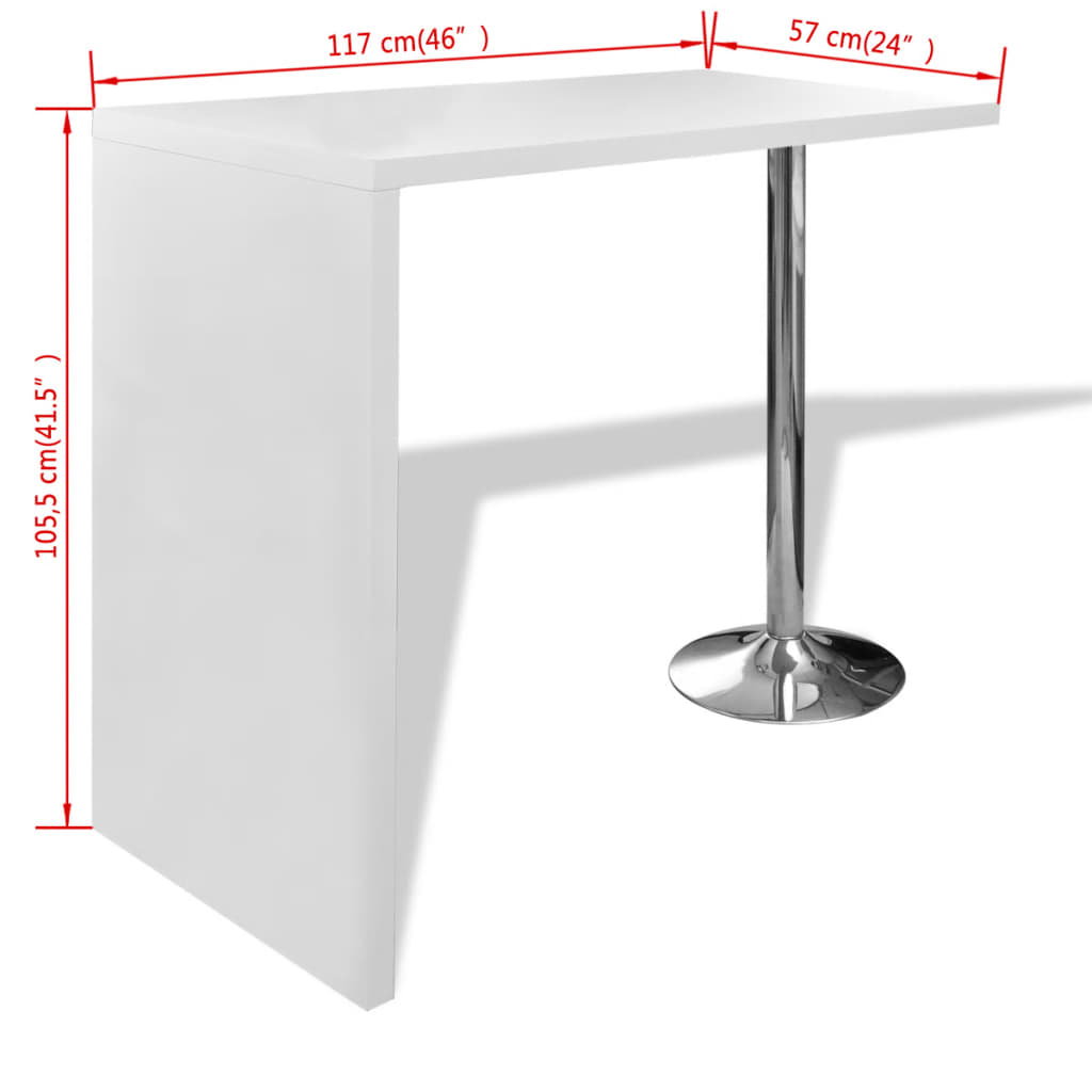 Home-Dining-Bar-Table-Coffee-Bar-Table-Side-Table-Counter-1-Steel-Leg-White