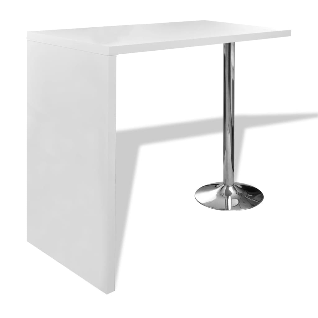 high gloss bar coffee table dining table with 1 leg white. Black Bedroom Furniture Sets. Home Design Ideas