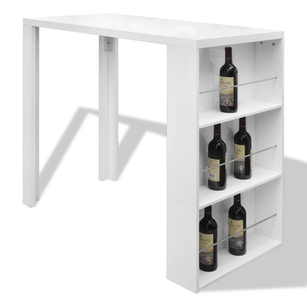 Home-Dining-Bar-Table-Coffee-Bar-Table-Side-Table-Counter-3-Layer-Rack-White