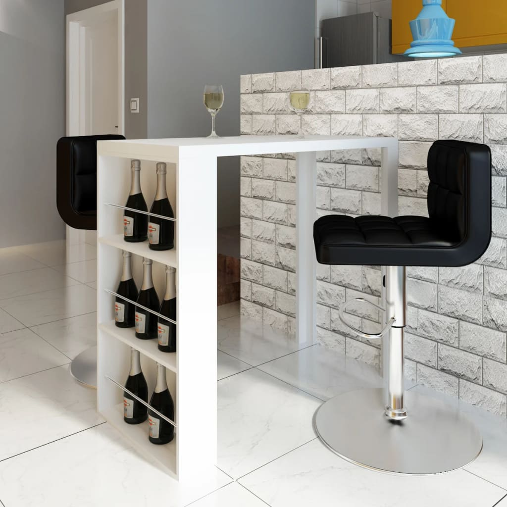 White High Gloss Coffee Table 85 Cm: High Gloss Bar Coffee Table Dining Table 3