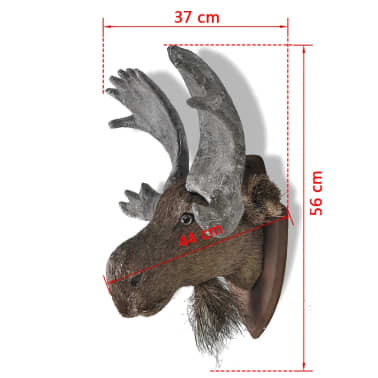Moose Head Wall Mounted Decoration Natural Looking[6/6]