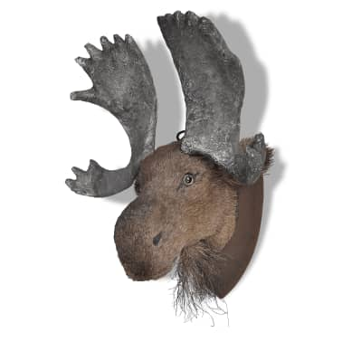 Moose Head Wall Mounted Decoration Natural Looking[2/6]