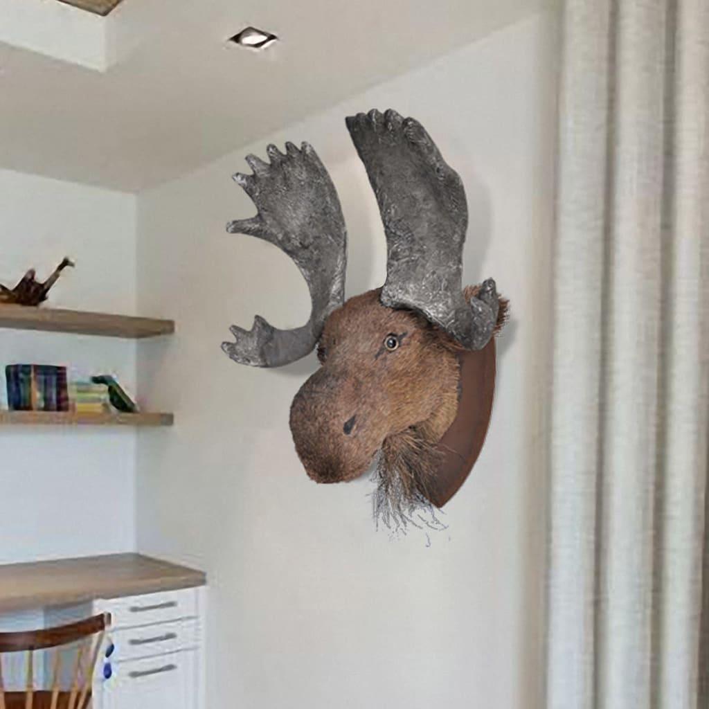 Älghuvud vägg handgjord