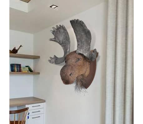 Moose Head Wall Mounted Decoration Natural Looking