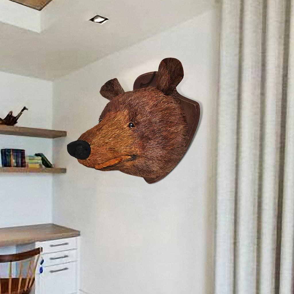 Björnhuvud vägg handgjord