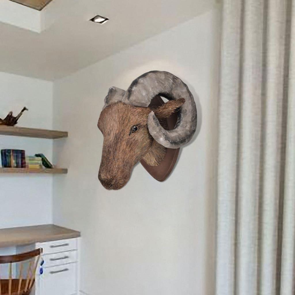 Bockhuvud vägg handgjord