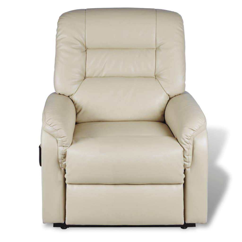 vidaxl fernsehsessel elektrisch verstellbare kunstleder beige g nstig kaufen. Black Bedroom Furniture Sets. Home Design Ideas