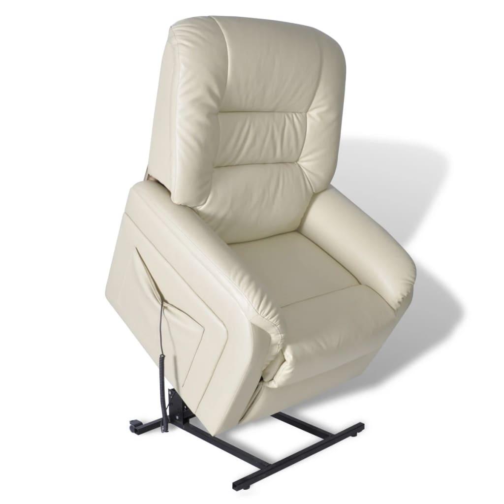 vidaXL állítható elektromos dönthető háttámlás emelhető fotel bézs
