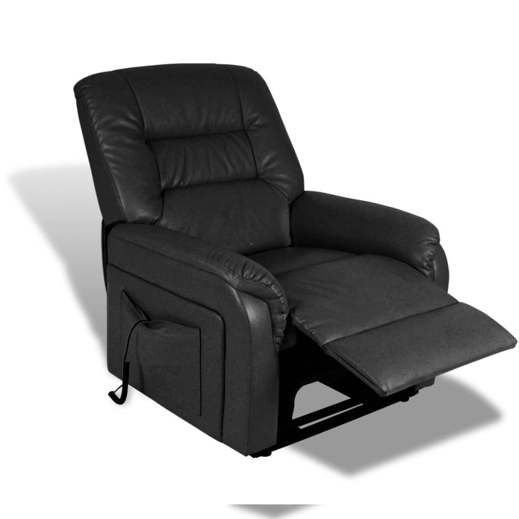 acheter fauteuil lectrique position r glable noir pas cher. Black Bedroom Furniture Sets. Home Design Ideas