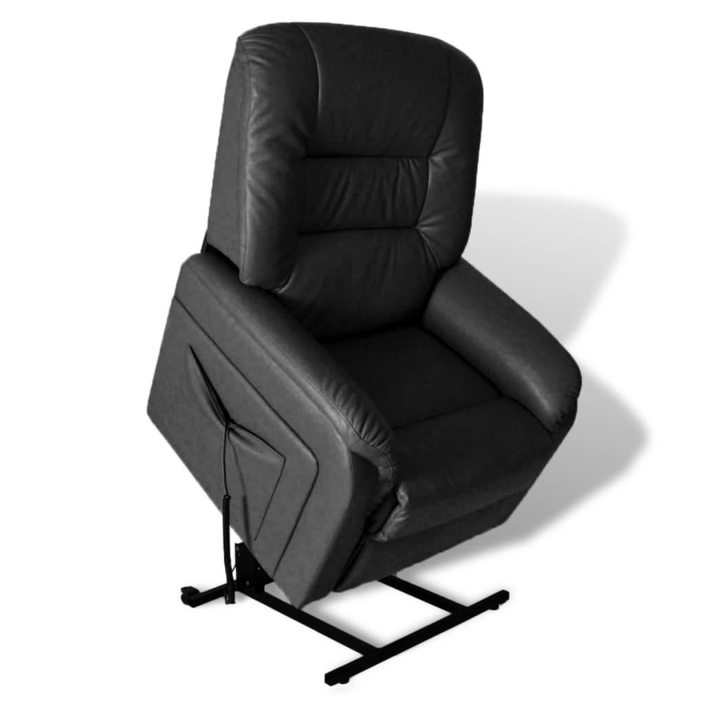 vidaXL Pozícióba Állítható Elektromos TV Fotel Fekete