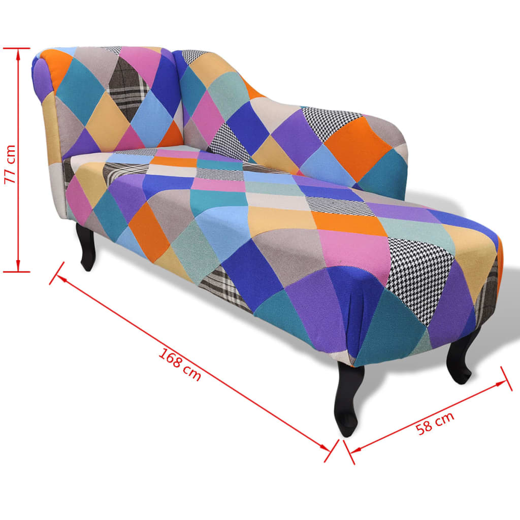 Chesterfield chaise longue ligstoel patchwork for Chaise longue patchwork