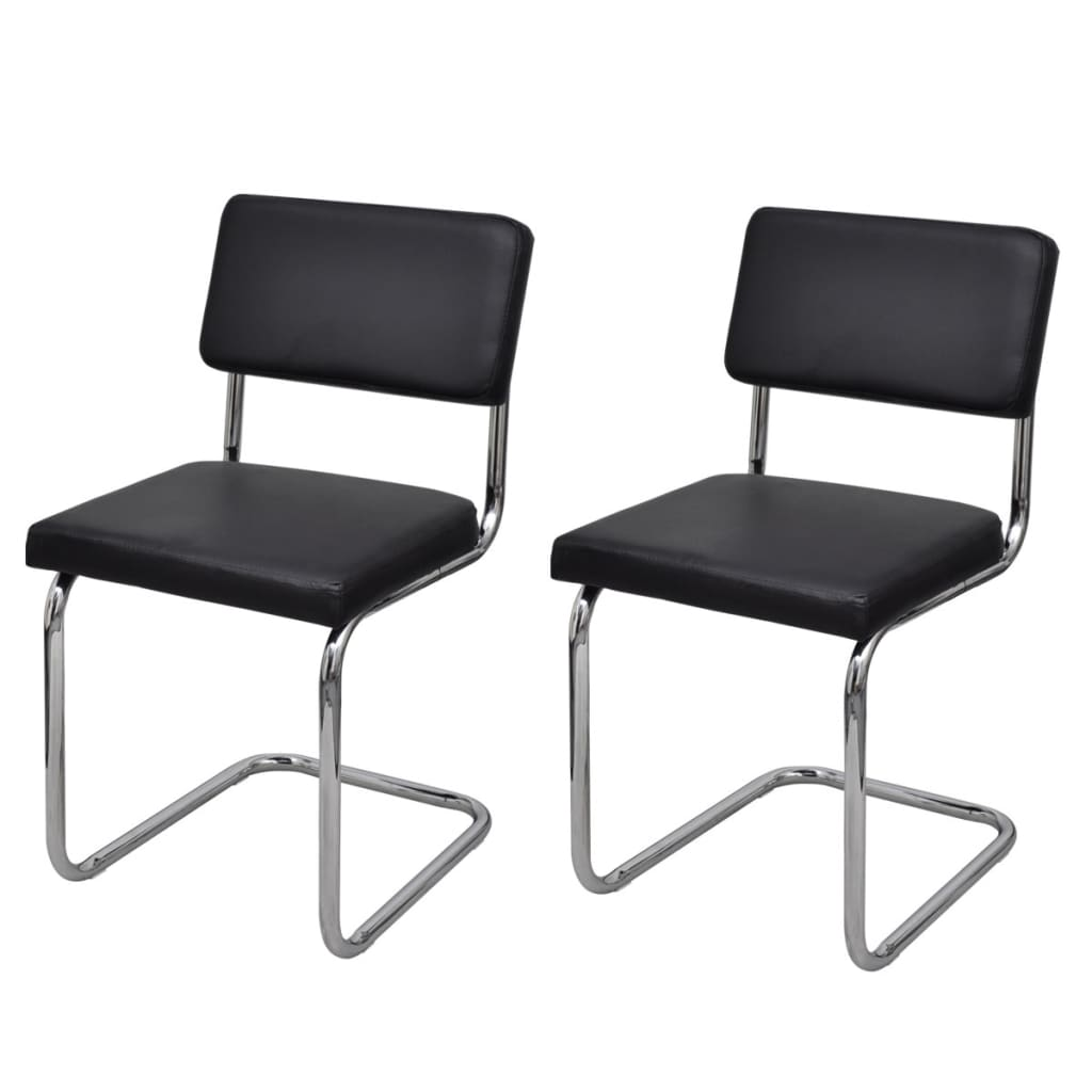 chaises de salon chaises design et moderne chaises simili cuir noir blanc 2 4 6 ebay. Black Bedroom Furniture Sets. Home Design Ideas