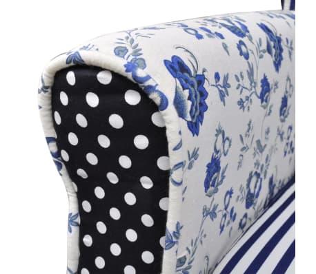 vidaXL Křeslo patchwork textilní[4/7]