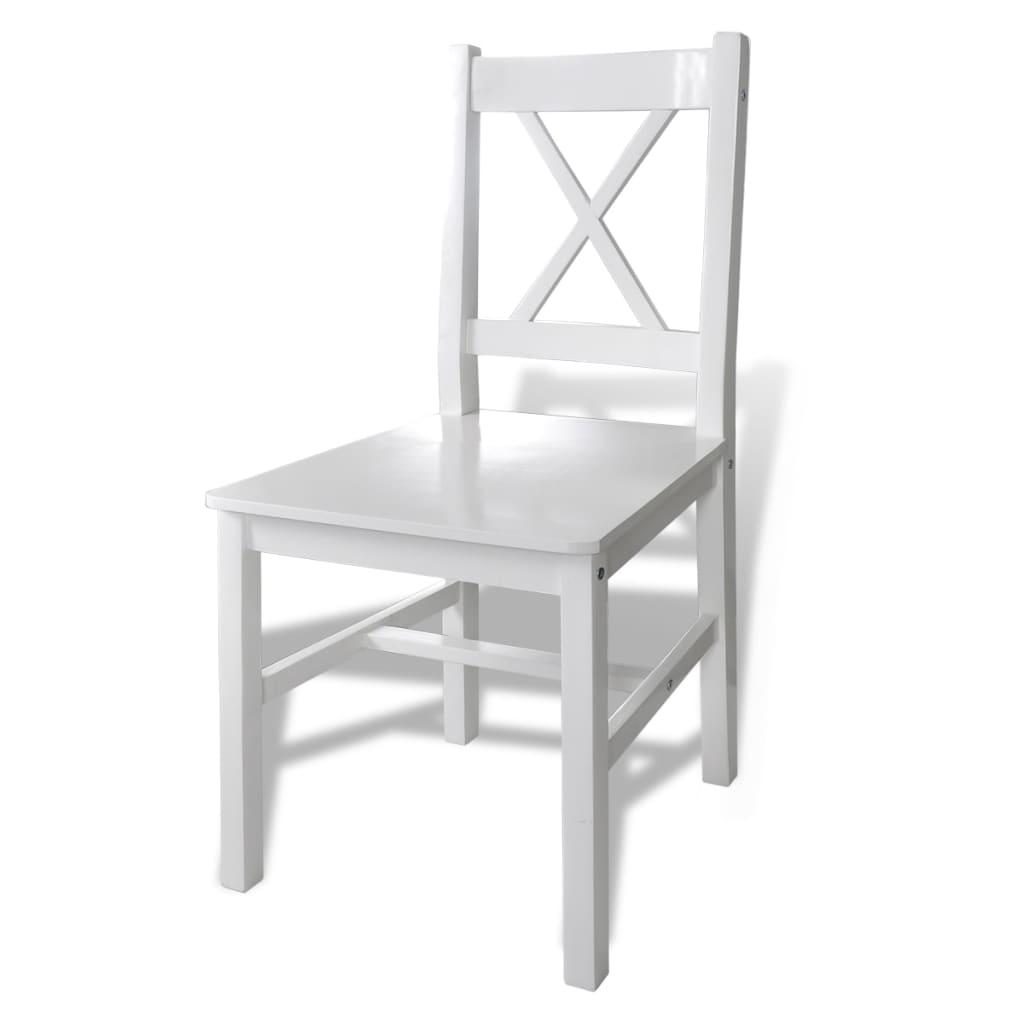Sed di mobili Tavolo in legno con 4 sedie in legno Bianco | vidaXL.it