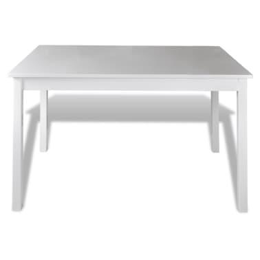 Drveni stol s 4 drvene stolice, bijeli[3/5]