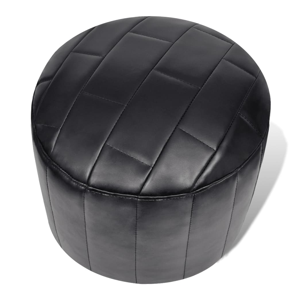acheter pouf noir repose pied contemporain noir avec un. Black Bedroom Furniture Sets. Home Design Ideas
