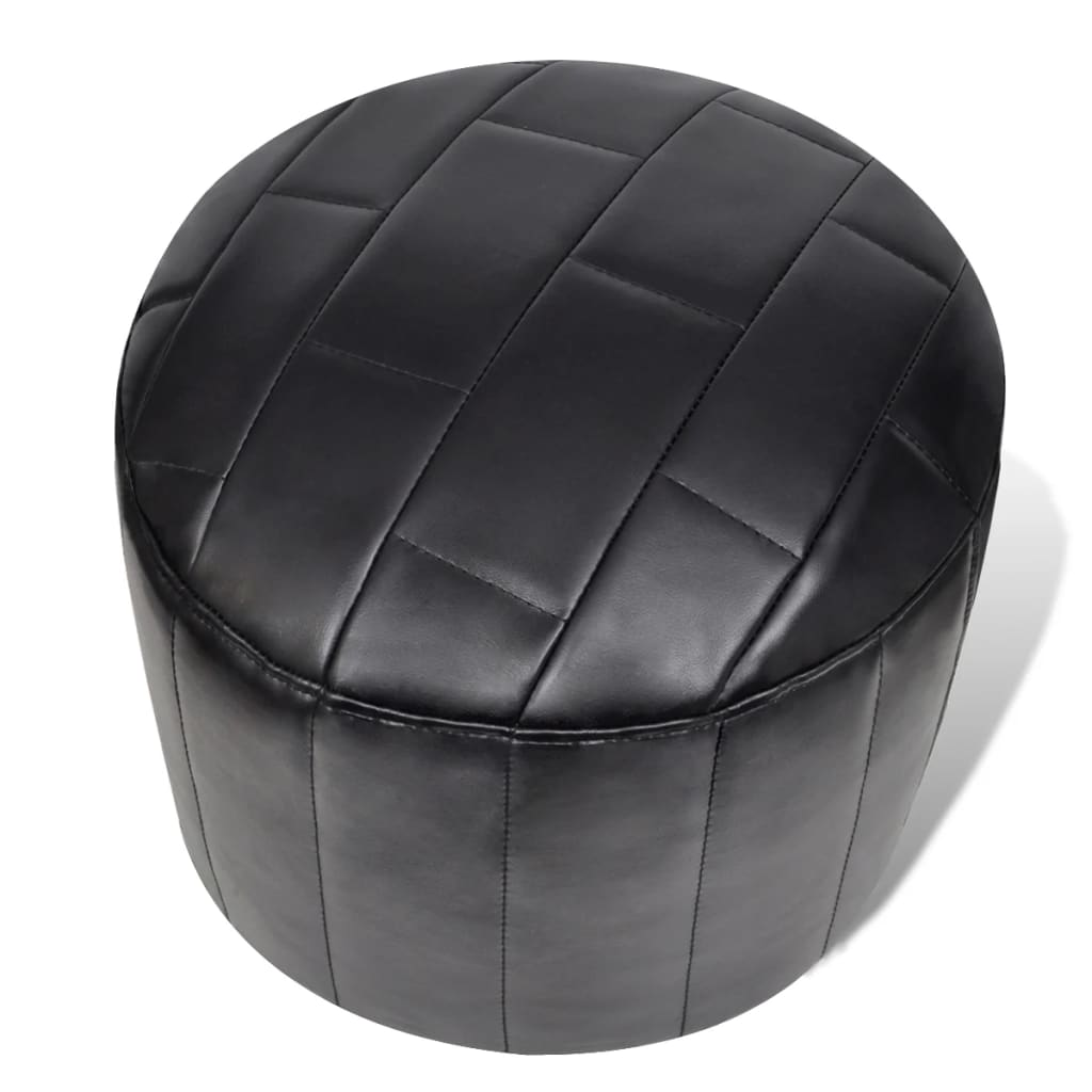 la boutique en ligne pouf noir repose pied contemporain. Black Bedroom Furniture Sets. Home Design Ideas