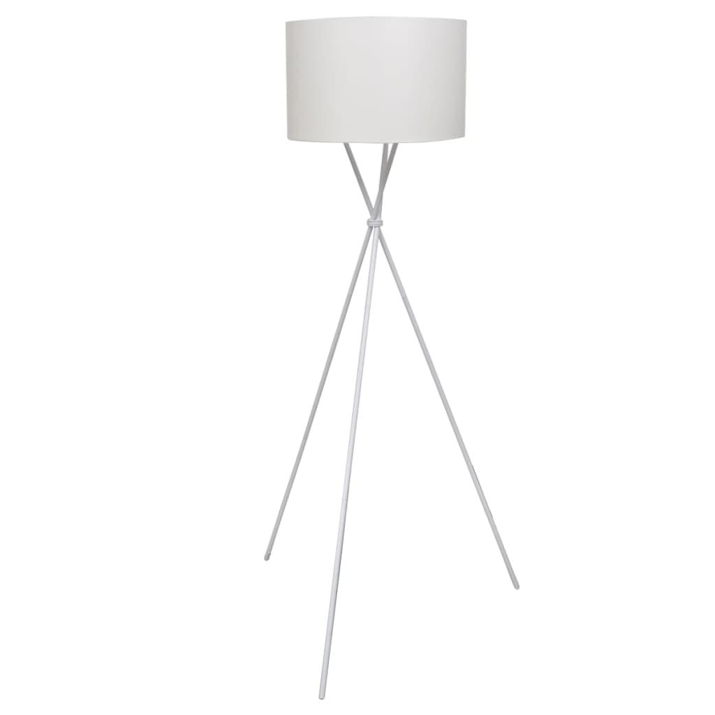 vidaXL Állólámpa magasított állvánnyal fehér