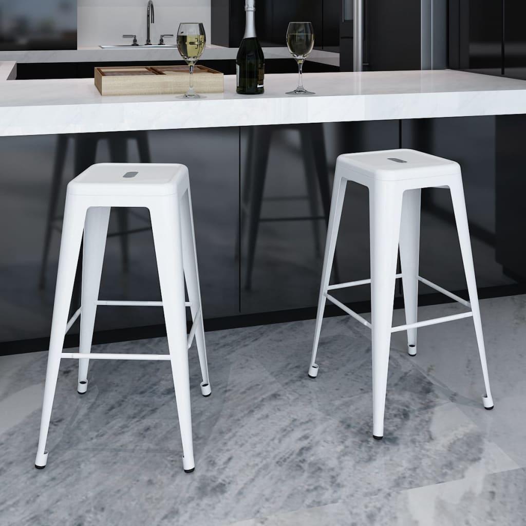 2 tabourets de bar hauts chaise de bar haute mobilier de bar blanc noir rouge ebay. Black Bedroom Furniture Sets. Home Design Ideas