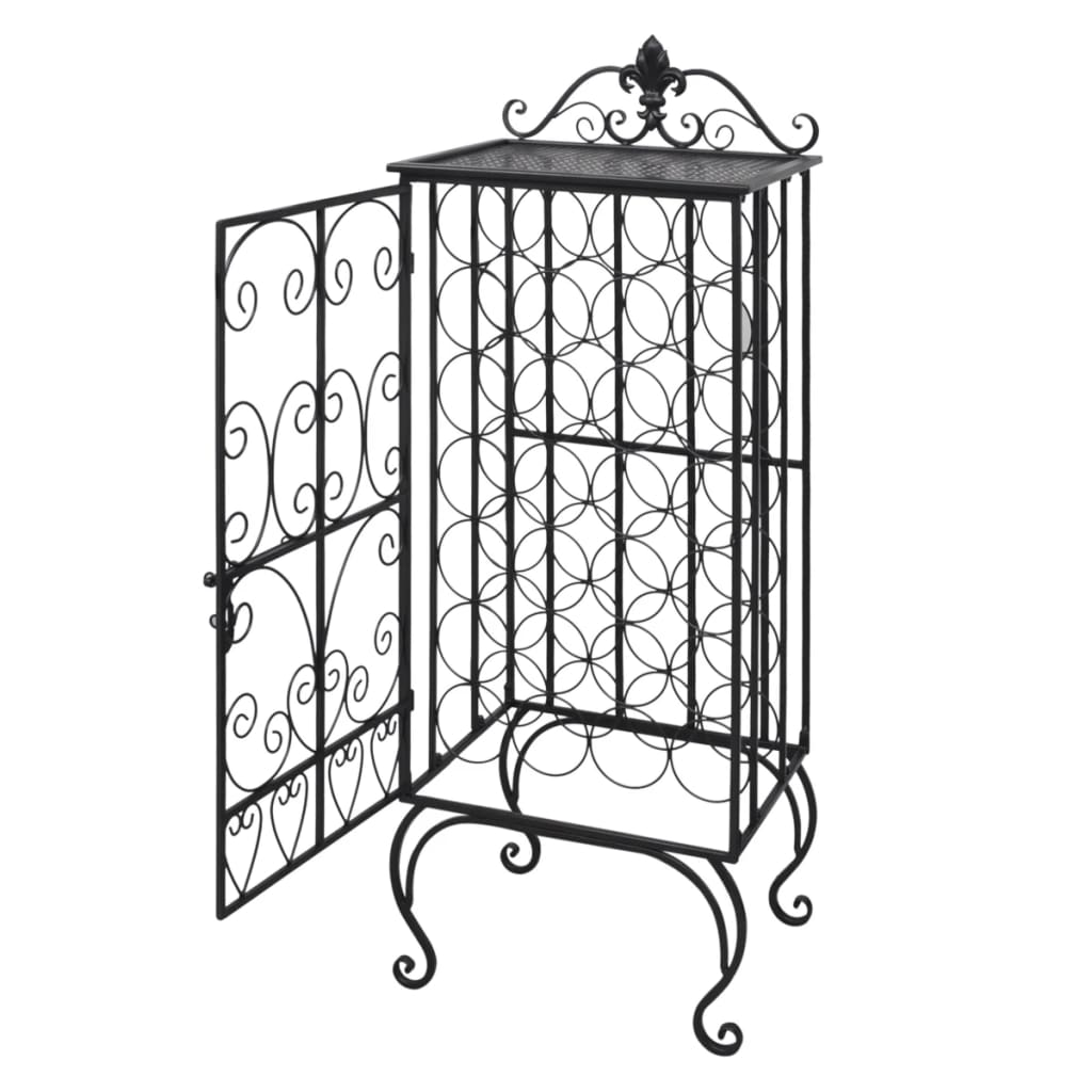 Metal Wine Cabinet Rack Wine Stand For 28 Bottles Www