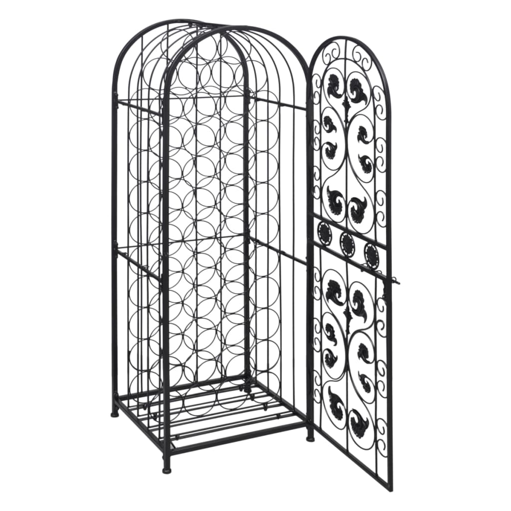 Metal-Wine-Storage-Cabinet-Wine-Rack-Wine-Stand-Display-Organizer-45-Bottles