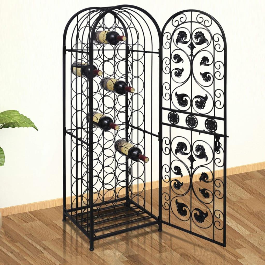 New-Metal-Wine-Storage-Cabinet-Wine-Rack-Wine-Stand-Display-Organizer-45-Bottles