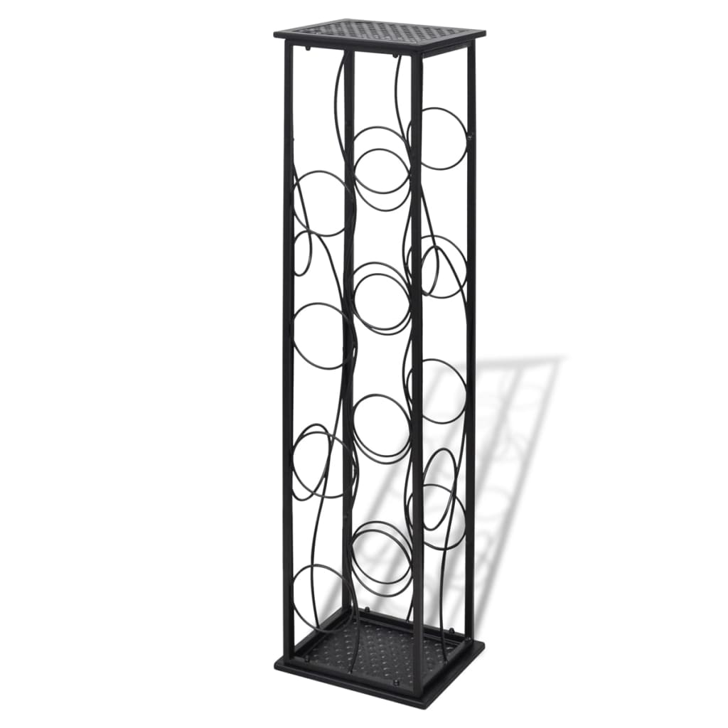 Metal wine rack wine stand for 8 bottles - Wine racks wrought iron floor standing ...