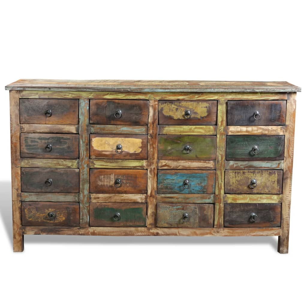 Amazing photo of  .co.uk Reclaimed Wood Cabinet Home Storage Antique style 16 Drawers with #8F743C color and 1024x1024 pixels