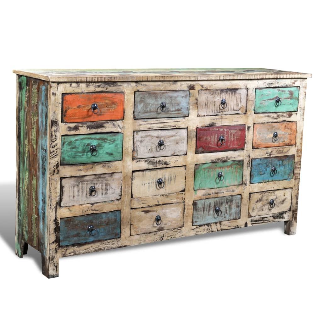 acheter commode cabinet de rangement vintage 16 tiroirs. Black Bedroom Furniture Sets. Home Design Ideas