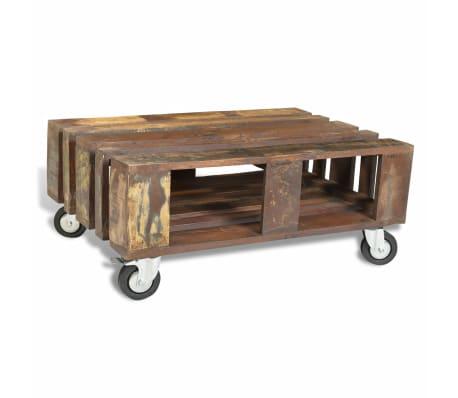 table basse ancienne vintage avec 4 roulettes. Black Bedroom Furniture Sets. Home Design Ideas