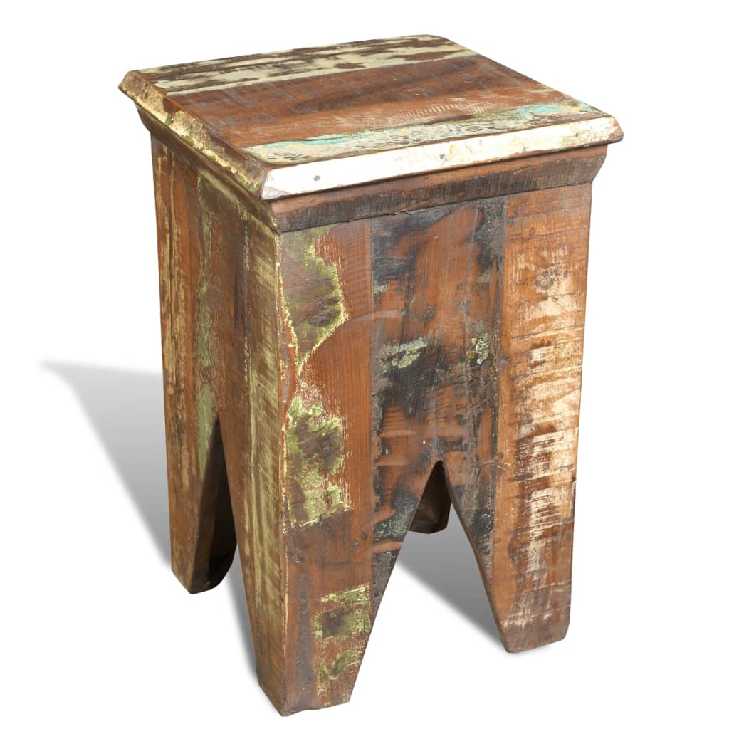 Superb img of vidaXL.co.uk Reclaimed Wood Stool Hocker Antique Chair with #91713A color and 1024x1024 pixels
