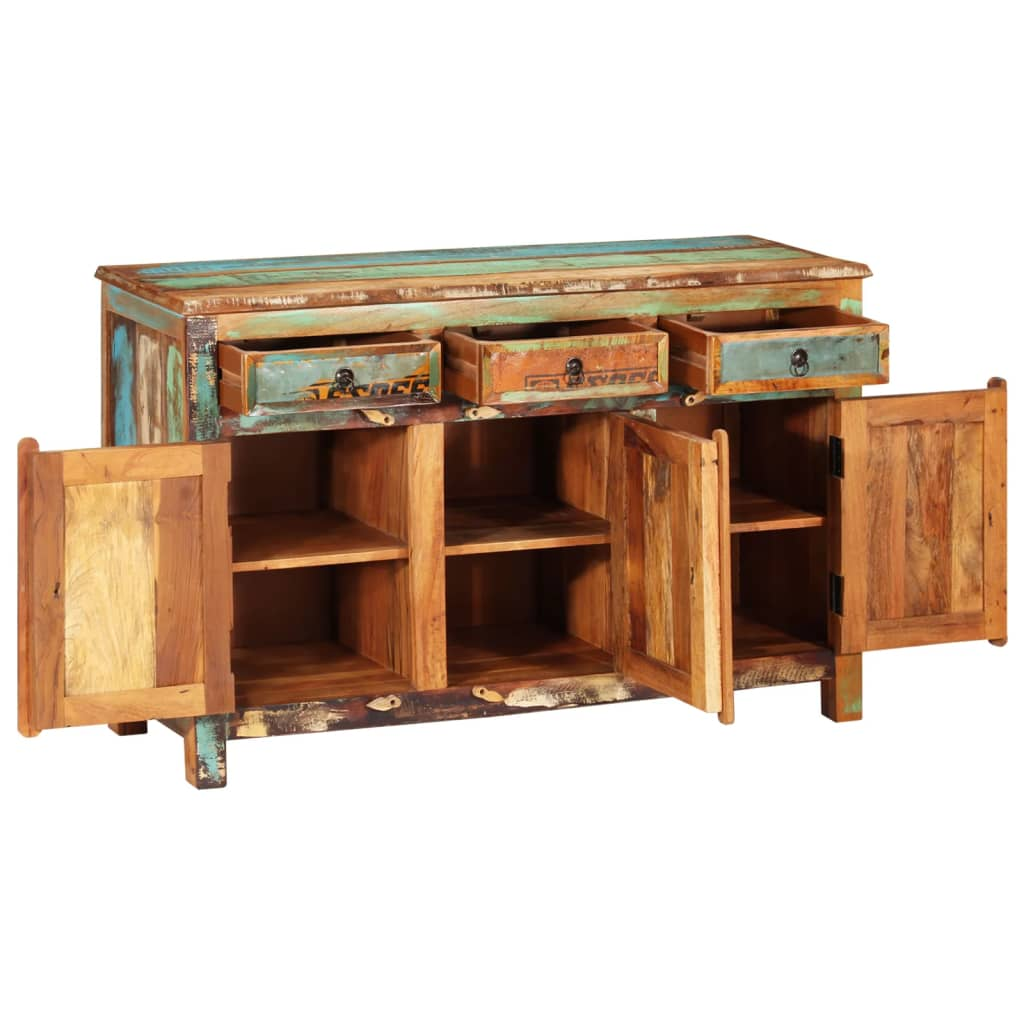 Reclaimed Wood Cupboard Cabinet Sideboard 3 Drawers 3