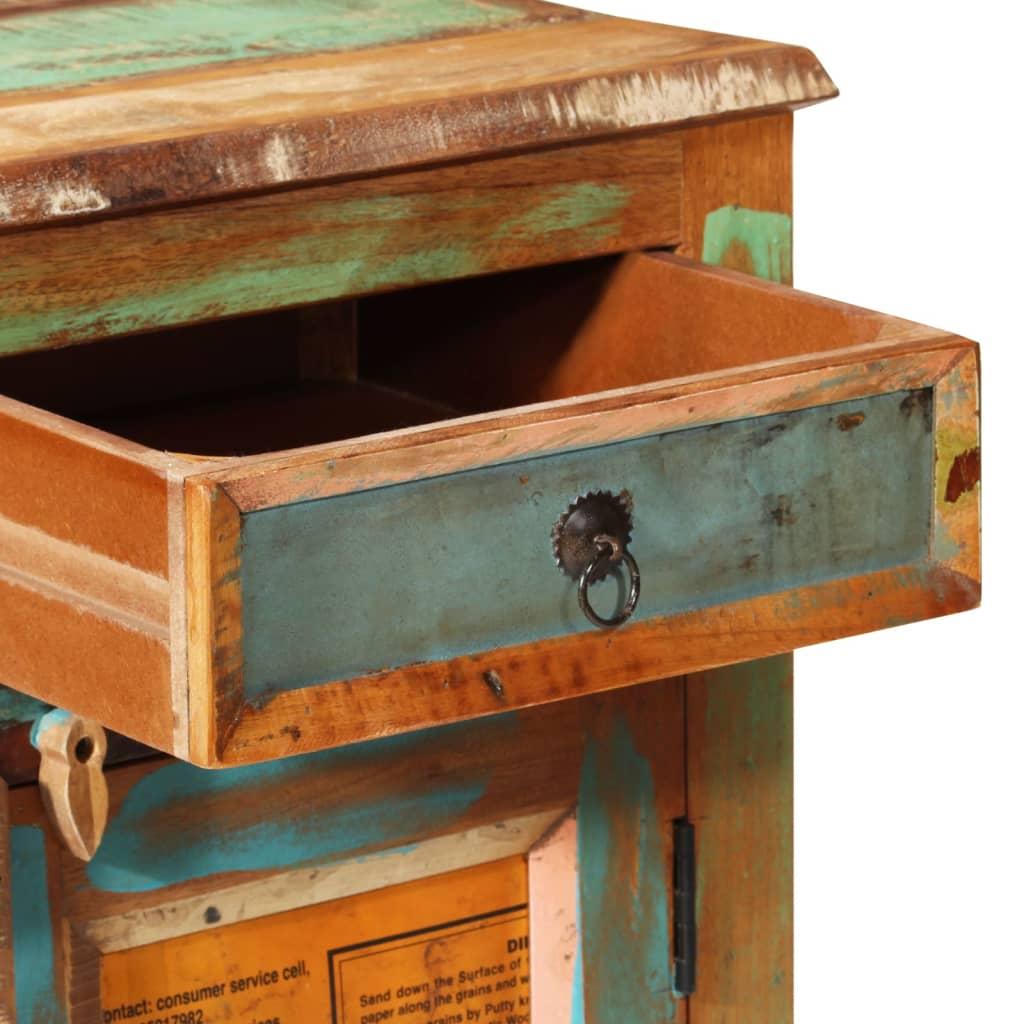antik vintage massivholz kommode sideboard schrank 3 t ren. Black Bedroom Furniture Sets. Home Design Ideas