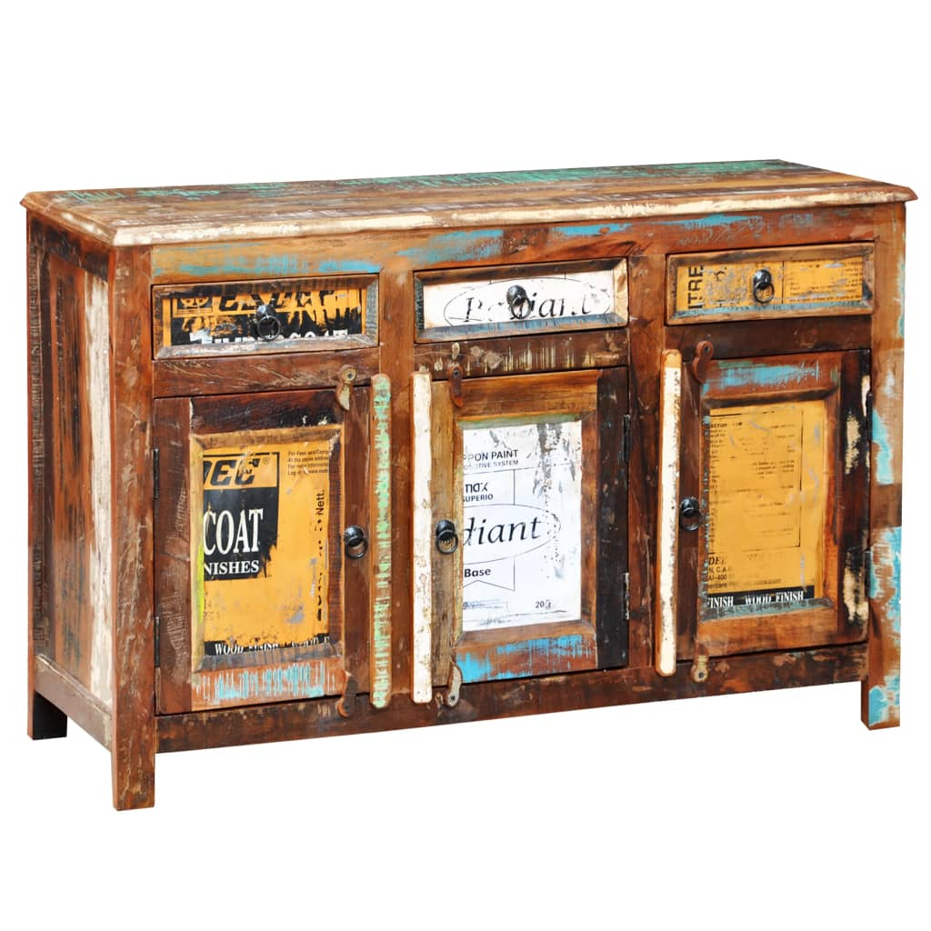 Der antik vintage massivholz kommode sideboard schrank 3 türen ...