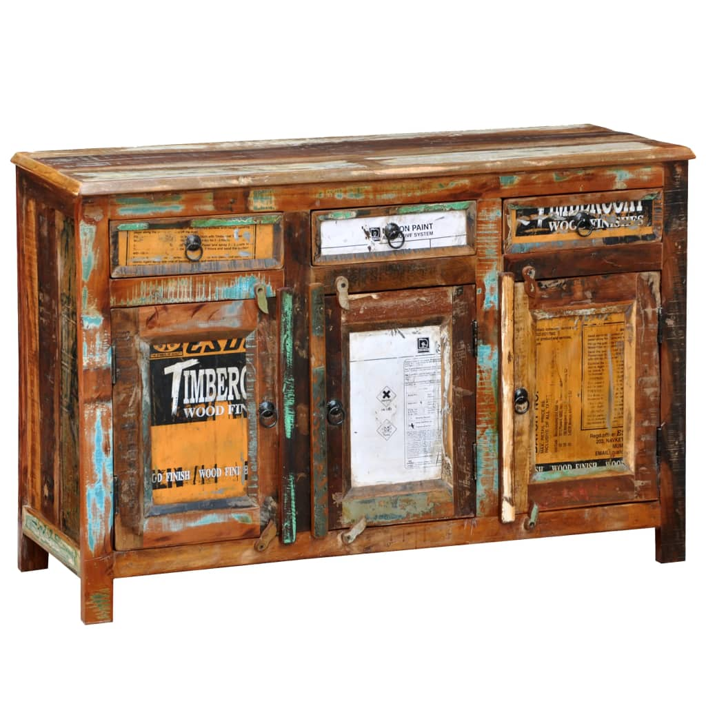 der antik vintage massivholz kommode sideboard schrank 3 t ren online shop. Black Bedroom Furniture Sets. Home Design Ideas