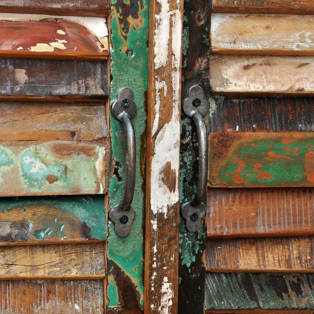 antik vintage massivholz kommode sideboard schrank 4 t ren g nstig kaufen. Black Bedroom Furniture Sets. Home Design Ideas