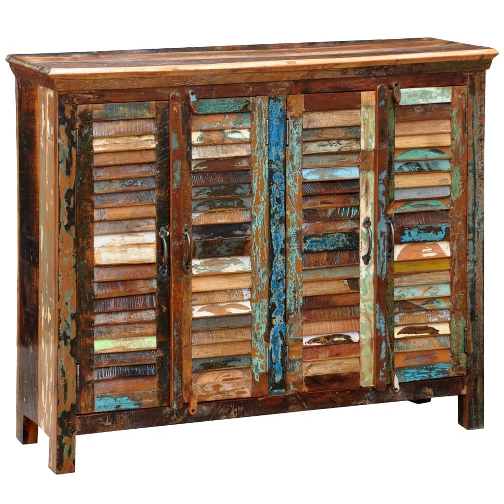 der antik vintage massivholz kommode sideboard schrank 4 t ren online shop. Black Bedroom Furniture Sets. Home Design Ideas