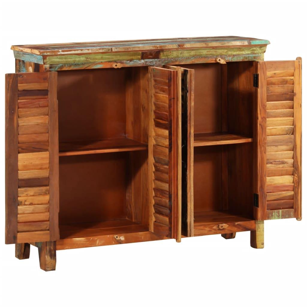 Reclaimed Wood Cupboard Cabinet Shades Sideboard 4 Doors